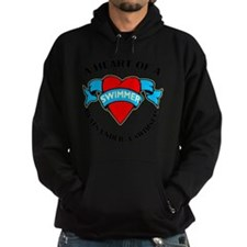 Heart of a Swimmer tattoo Hoodie