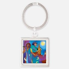 NO Poster no text square Square Keychain