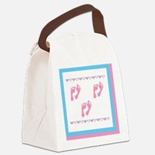 3 sets of foot prints 3g Canvas Lunch Bag