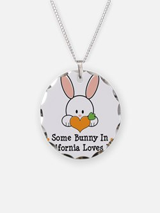 CaliforniaSomeBunnyLovesMe Necklace