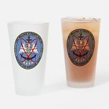 wvpratt ddg patch transparent Drinking Glass