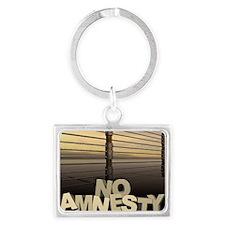 march_no_amnesty Landscape Keychain