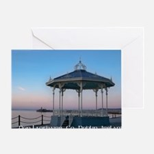 Bandstand with lighthouse on east pi Greeting Card