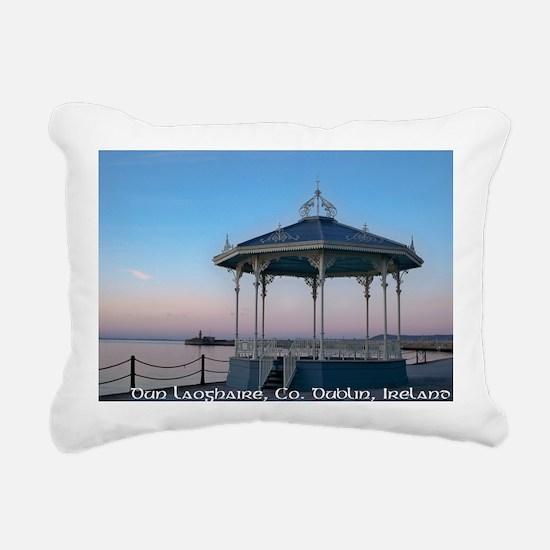 Bandstand with lighthous Rectangular Canvas Pillow