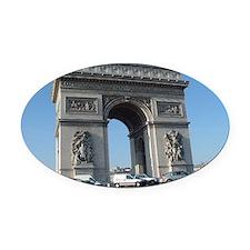 paris_006_14x10 Oval Car Magnet