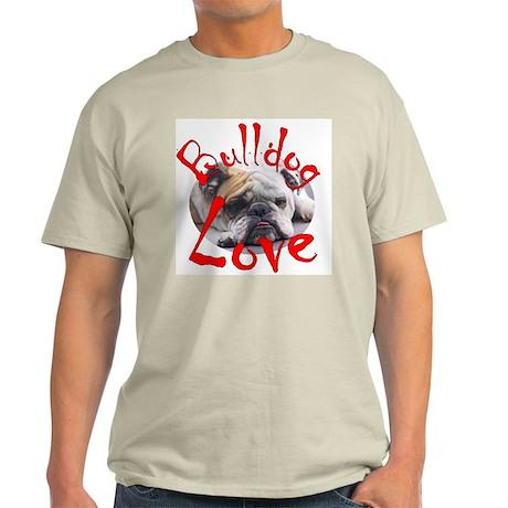 Bulldog Love Ash Grey T-Shirt