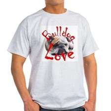 Bulldog Love Ash Grey T-Shirt