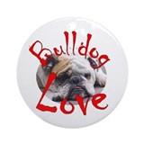 Bulldog Round Ornaments