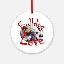 Bulldog Love Ornament (Round)