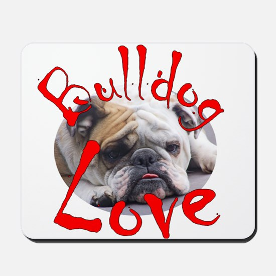 Bulldog Love Mousepad