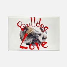 Bulldog Love Rectangle Magnet