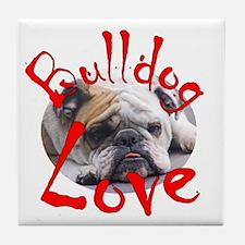 Bulldog Love Tile Coaster