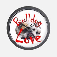 Bulldog Love Wall Clock