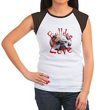 Bulldog Love Women's Cap Sleeve T-Shirt