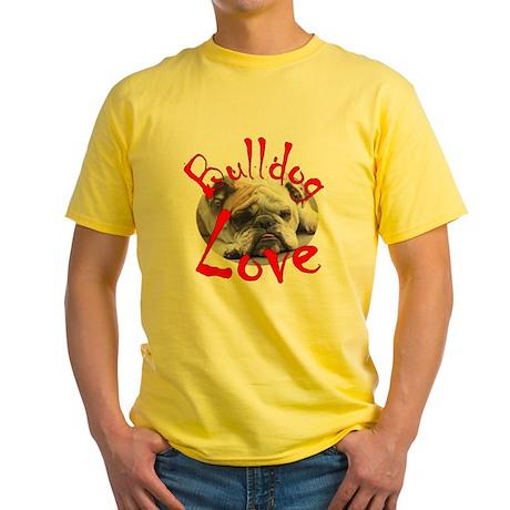 Bulldog Love Yellow T-Shirt