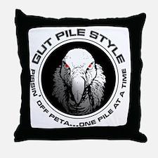 Gut Pile Style Buzzard Throw Pillow