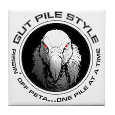 Gut Pile Style Buzzard Tile Coaster