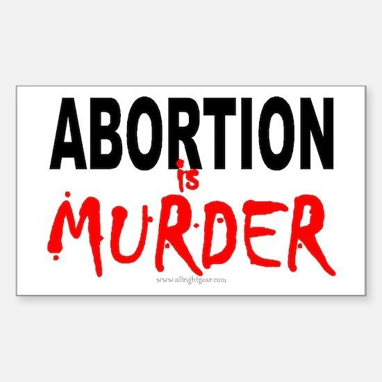 Abortion Sticker (Rect.)