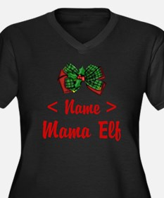 Personalized Mama Elf Women's Plus Size V-Neck Dar