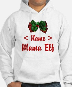 Personalized Mama Elf Hoodie