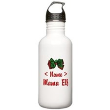 Personalized Mama Elf Water Bottle