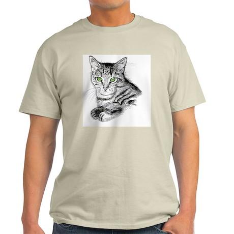 GreenEyedTabby2_8x10 Light T-Shirt