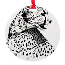 Cheetah_8x10 Ornament