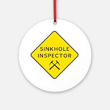 Sinkhole Inspector Round Ornament