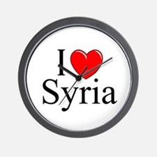 """I Love Syria"" Wall Clock"