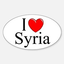 """""""I Love Syria"""" Oval Decal"""