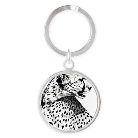 Cheetah_5x7 Round Keychain