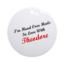 In Love with Theodore Ornament (Round)