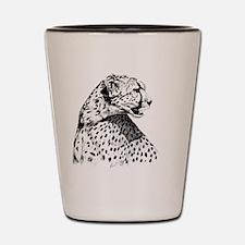 Cheetah_stein Shot Glass