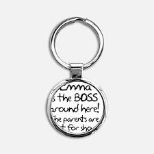 boss_emma Round Keychain