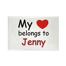 My heart belongs to jenny Rectangle Magnet