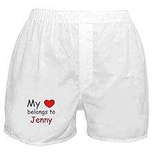 My heart belongs to jenny Boxer Shorts