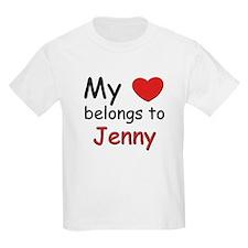 My heart belongs to jenny Kids T-Shirt