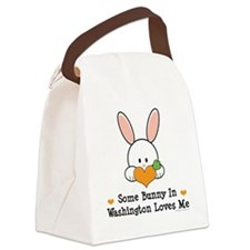 WashingtonSomeBunnyLovesMe Canvas Lunch Bag