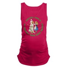 ALICE_SIX IMPOSSIBLE_GREEN copy Maternity Tank Top