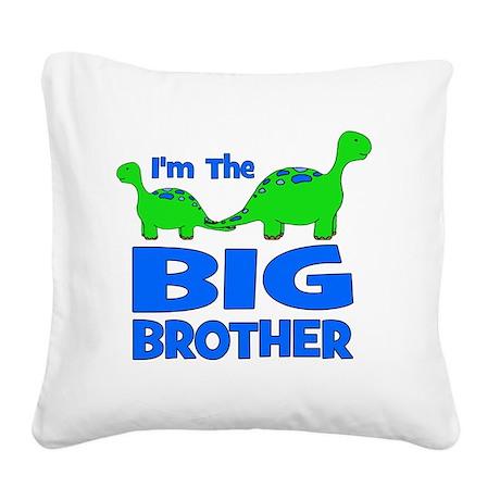 imtheBIGbrother_dino Square Canvas Pillow