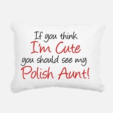 Polish Aunt (Handwritten Rectangular Canvas Pillow