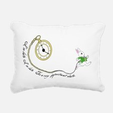 Follow the White Rabbit Rectangular Canvas Pillow