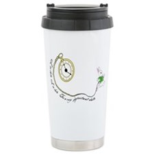 Follow the White Rabbit Travel Mug