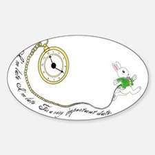 Follow the White Rabbit Sticker (Oval)