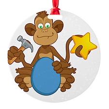 EB Monkey - Black Ornament