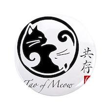 """yin-yang-cats 3.5"""" Button"""