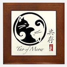 yin-yang-cats Framed Tile