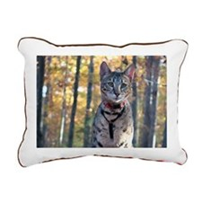 Cat Woods - Rectangular Canvas Pillow