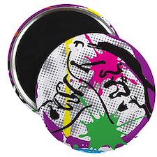 colorful grunge dance Magnet