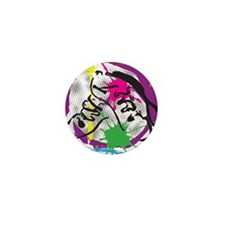 colorful grunge dance Mini Button